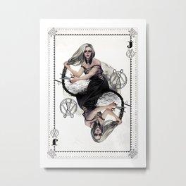 Jack of Scissors Metal Print