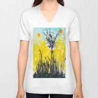 tim shumate V-neck T-shirts featuring Tim Burton by Jose Luis