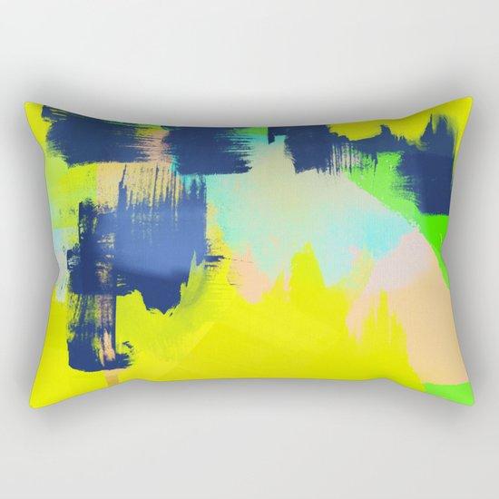 Yellow and More Rectangular Pillow