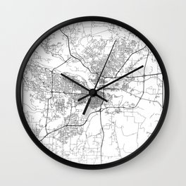 Minimal City Maps - Map Of Little Rock, Arkansas, United States Wall Clock