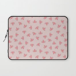 Crazy Happy Uterus in Pink, small repeat Laptop Sleeve