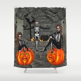 Elfish Skeletons Home Sweet Home Shower Curtain