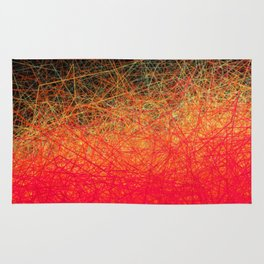 Linear Red Gradation Rug