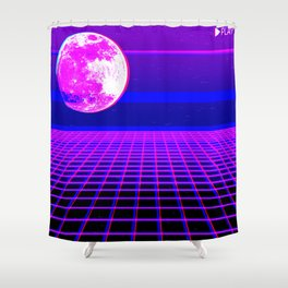 Once In A Neon Moon Shower Curtain