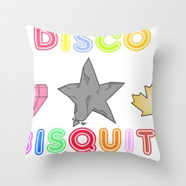 Disco Biscuits 2 Throw Pillow