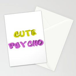 Cute psycho Stationery Cards