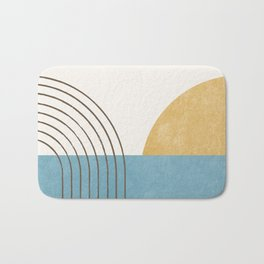 Sunny Ocean Horizon Bath Mat