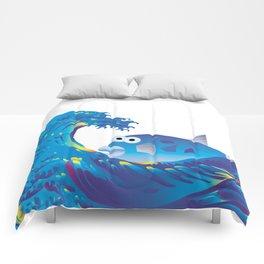 Hokusai Rainbow & Globefish  Comforters