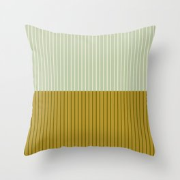 Color Block Lines XXI Moss Throw Pillow