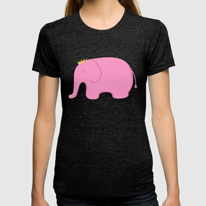 ab02022495c3 Queen Pink Elephant T-shirt by cartoonbeing