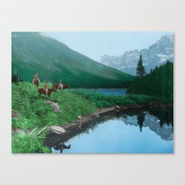 The Hunting Ground - Blackfoot American Indian Canvas Print