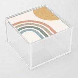 Mid Century Colorful Sun & Rainbow Acrylic Box