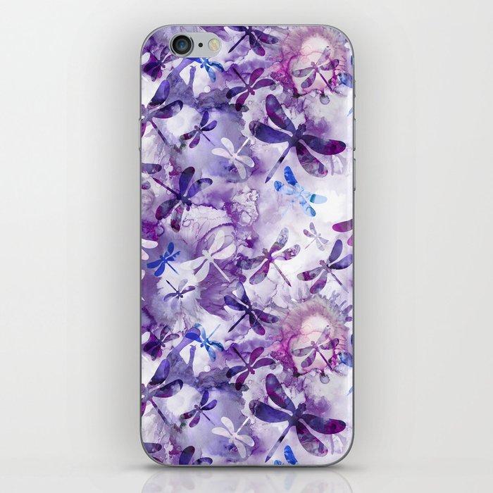 Dragonfly Lullaby in Pantone Ultraviolet Purple iPhone Skin