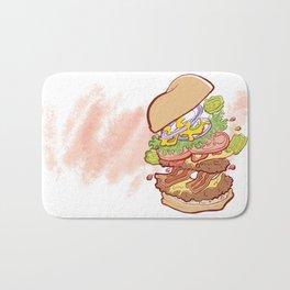 Hamburger Time Bath Mat