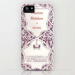 Antique Book * Literacy Art for Book Lovers * Rudyard Kipling  purple white #antiquebooks iPhone Case