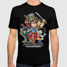 My Heroes Mens Fitted Tee MEDIUM Black