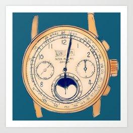 Old Watch Art Print