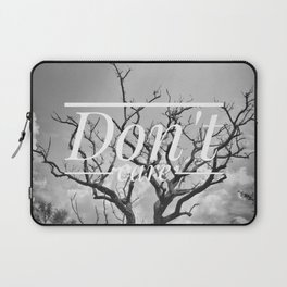 Motus Operandi Collection: Don't care Laptop Sleeve