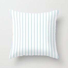 Vertical Baby Blue Stripes Pattern Throw Pillow