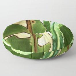 Exquisite Bird of Paradise Leaf in Majestic Repose Floor Pillow