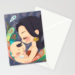 Motherly Love batik Stationery Cards
