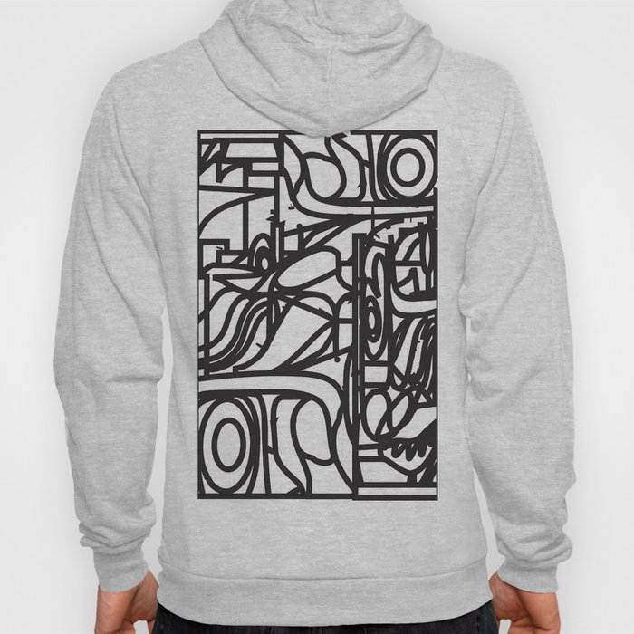 Stained Glass Patter (Black outlines) Hoody