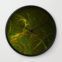 Solar Flare Waves Wall Clock