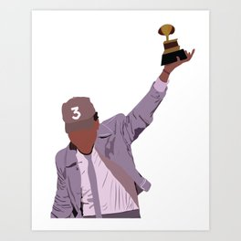 Chance the Rapper - Grammy Art Print