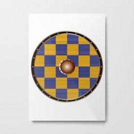 Surrey Flag Viking Shield Metal Print