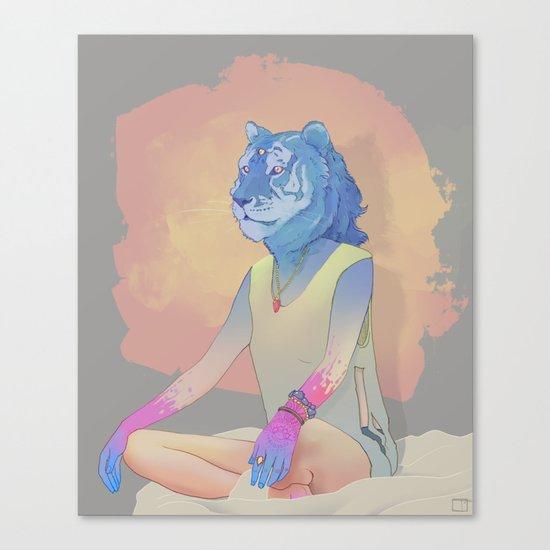Meditation Tiger Canvas Print