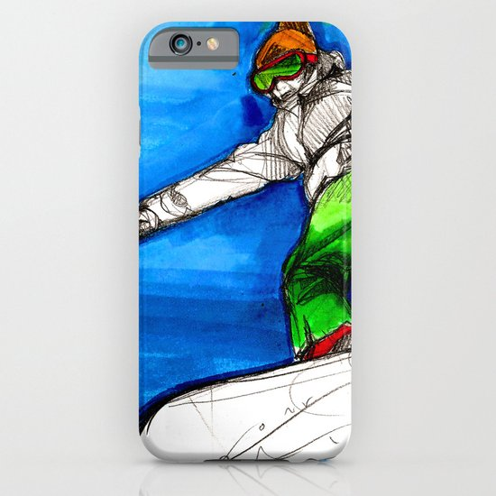 Snowboarder girl iPhone & iPod Case