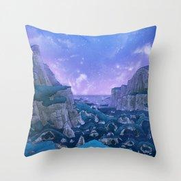 Stone Circle Evening Valley Sky Throw Pillow