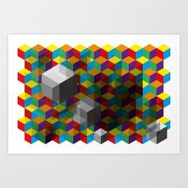 Isometric Colour Art Print