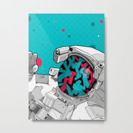 The Graffiti Space Traveller Metal Print