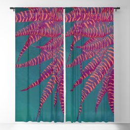 Agave psychedelic colors Blackout Curtain