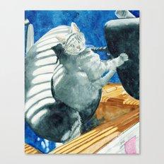Office Cat Canvas Print