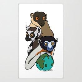 World Lemur Day 2017 Art Print