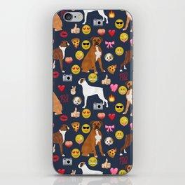 boxer emoji funny dog gifts emojis iPhone Skin