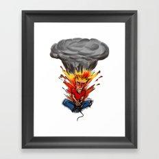 Intense Gamer Framed Art Print