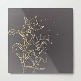 Golden borage  plants Metal Print