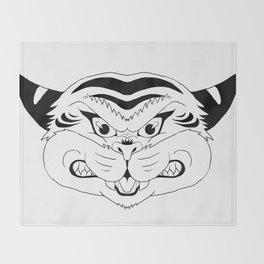 Tribal Tiger Throw Blanket