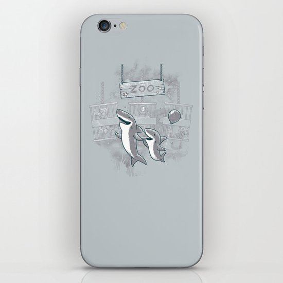 shark zoo iPhone & iPod Skin