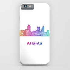 Rainbow Atlanta skyline Slim Case iPhone 6s