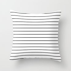Minimal Stripes Throw Pillow