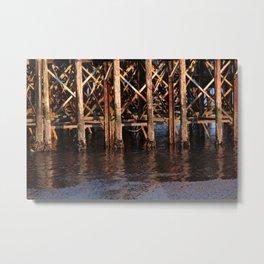 Dock Patterns Photography Print Metal Print