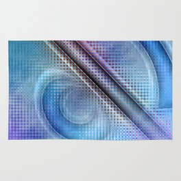 Abstract pattern blue and purple Rug