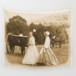 Strolling on the Battlefield Wall Tapestry
