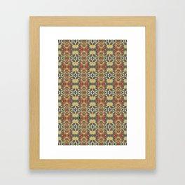 Spinning Glass Pattern Framed Art Print