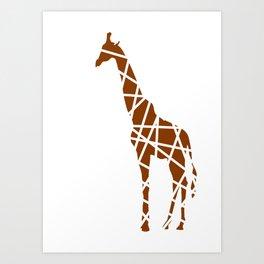 Animals Illustration - Giraffe Art Print