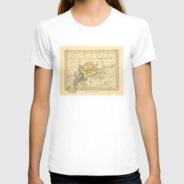 Vintage Scorpio Constellation Map (1822) T-shirt